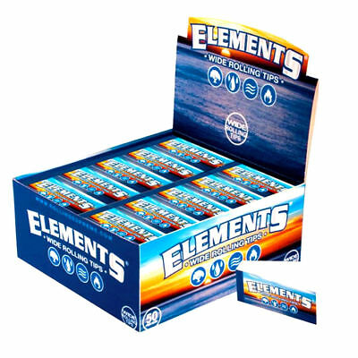 Elements Wide Rolling Tips Premium Cigarette Roller Filter Roaches +Raw Wide TP