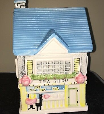 Ceramic Cookie Jar Tea Shop House - NICE!!