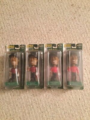 Tiger Woods Bobbleheads - Set Of 4