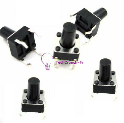 50pcs 6x6x9mm Tactile Push Button Switch Tact Switch 4-pin DIP-4 NEW