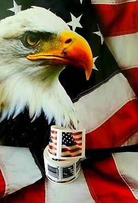 USPS Forever US Flag 2017/18 Stamps Roll of 100 Postage Postal COIL FIRST CLASS