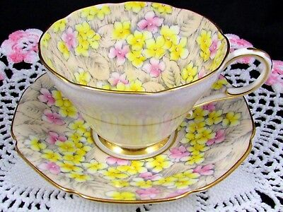 Paragon June Glory Pink And Yellow Floral Chintz Tea Cup And Saucer