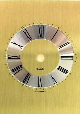 Replacement Metal Quartz Germany Gold Carriage Clock Dial Face Black Numerals
