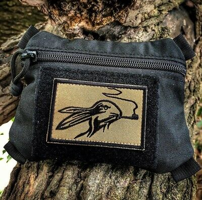 Smoking Rabbit Bunny morale tactical woodsman Bushcraft Patch