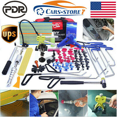 PDR Tools Push Rods Paintless Dent Repair Hail Lifter Puller Hammer Removal Kits