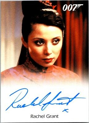 James Bond Archives 2017 Final Autograph Card Rachel Grant as Peaceful Fountains