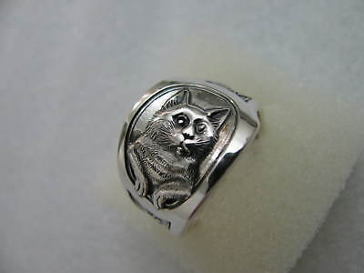 Sterling Silver spoon RING s 8 1/4 CAT Jewelry # 6349