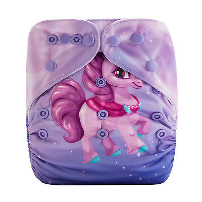 MODERN CLOTH NAPPIES MCN NEW REUSABLE ECO BABY, Cute Little Pony Princess SHELL