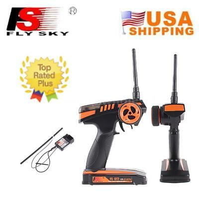 Flysky FS-GT2 GFSK 2.4G 2CH Radio System Transmitter&Receiver For Car Boat M8V7