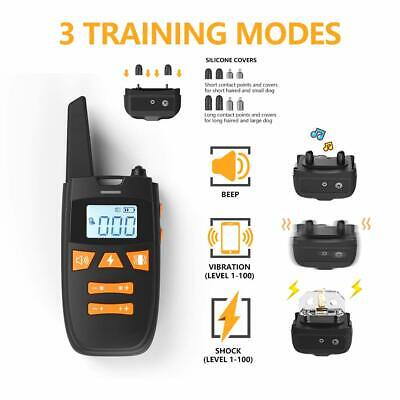 Remote Dog Pet Shock Collar Rechargeable Waterproof Dog Training Collar 1300ft
