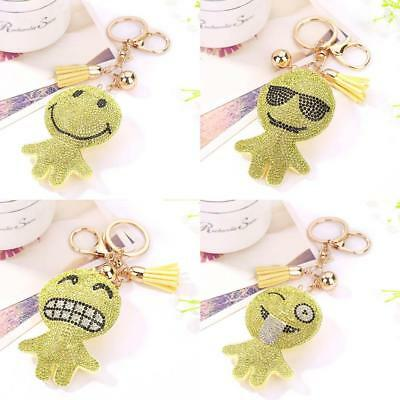 Lovely Cartoon Expressions Pendant Keychain Snap Hook Keyring Key Ring Chain