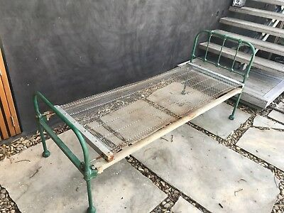 Antique Vintage Wrought Iron Single Bed