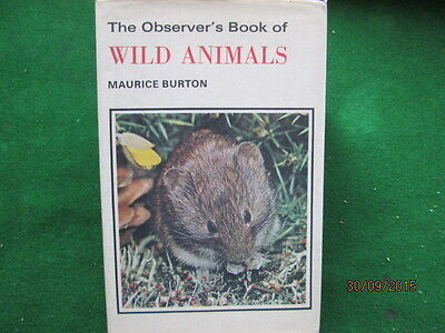 Old Observer Book Of Wild Animals  Good Used Condition With Dust Cover