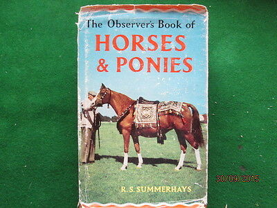 Old Observer Book Of  Horses & Ponies Good Used Condition With Dust Cover
