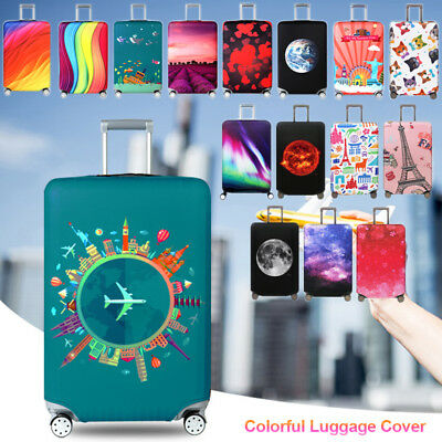 "Elastic Suitcase Protective Dust Cover Cartoon Dog 18"" -32"" Travel Luggage Cover"