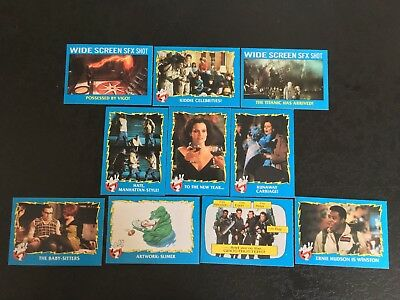 Ghostbusters 2 1989 Movie Trading Cards mixed lot of 10