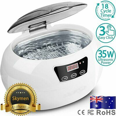 600ml Multi Purpose Ultrasonic Cleaner Sonic Wave Tank Watch Jewellery Cleaning