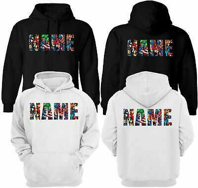 Personalised Marvel Unisex Hoodie, Add Your Name Hulk Avengers Party Gift Top