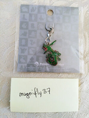 Pokemon Center Metal Charm # 384 Rayquaza Key Chain Porte-clés
