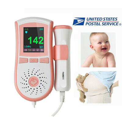 Fetal Doppler 3MHz Probe, Baby Heart Monitor, Backlight LCD, Free GEL 4Type US