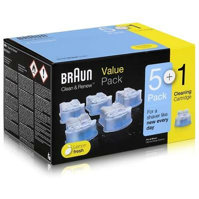 Braun CCR3 6 Pack Clean And Renew Men Shaver Hygienic Cleaning Refill Cartridges