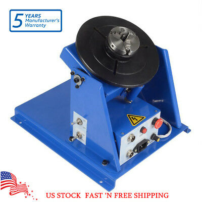 3 Jaw Lathe Chuck 2-20RPM Rotary Welding Welder Positioner Turntable Table