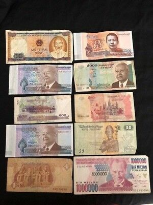 MIXED REGIONS - 10x Bank Notes from various regions & in varying condition