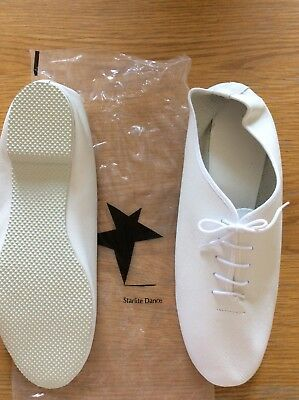 starlite fullsole white jazz shoes size 11.5 adults