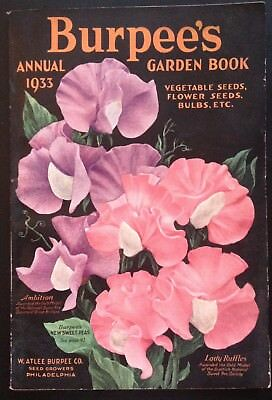 Original 1933 Burpee's Annual Garden Book 144 Pages W/order Form, Envelope