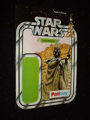 Star Wars Action Figure Backing Card:sand People[Tusken Raider]:palitoy:1977:rar