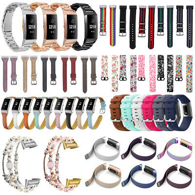 For Fitbit Charge 3 Replacement Strap Wrist Band Bracelet Silicone/Leather/Nylon