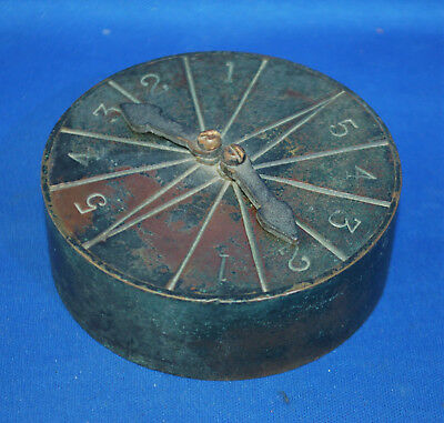 A unusual antique brass Victorian playing card scorer marker, with two pointers
