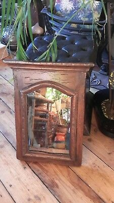 Anique French Rustic Country House Wooden Wall Mirror