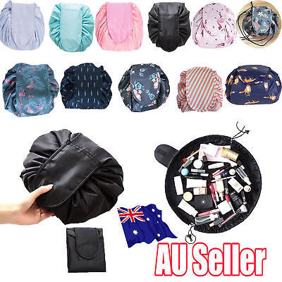 Toiletry Bag Lazy Makeup Bag Quick Pack Travel Bag Drawstring Storage AU STOCK H