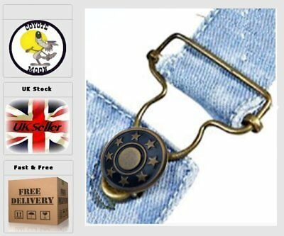 6pcs Metal Replacement Jean,dungarees, Suspender buttons.Rivets no sew UK SELLER