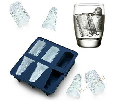 Doctor Who Tardis Dalek Ice Cube Tray Ice Cube Baking Chocolate Mold