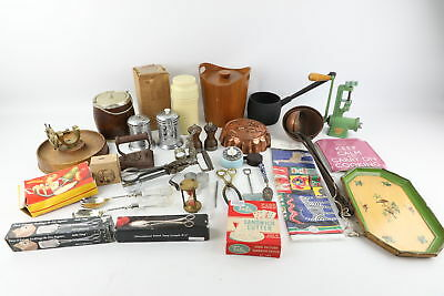 Job Lot of Vintage Mixed Kitchenalia Inc.Copper Mould, Silver Plate, Nut Cracker