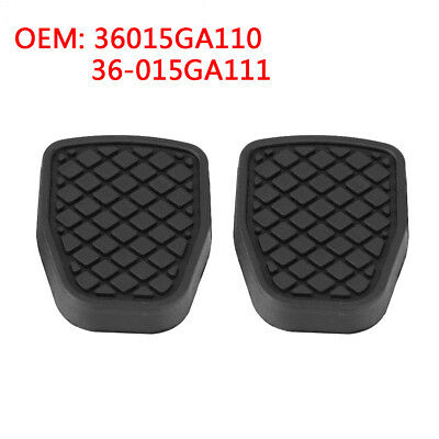 2x Clutch Brake Rubber Pedal Pad Cover For Subaru Forester IMPREZA Outback WRX