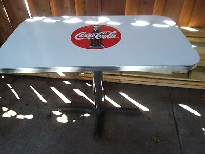 "Coca-Cola Diner Table~use with Chairs or Booth~Rectangular 24"" x 42"" Very nice"