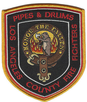 Los Angeles County Fire Fighters  Pipe & Drums (California) Fire Patch