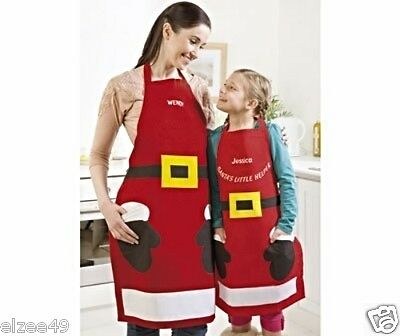 Christmas Santa's Little Helper Apron (child) 100% Cotton BNIP