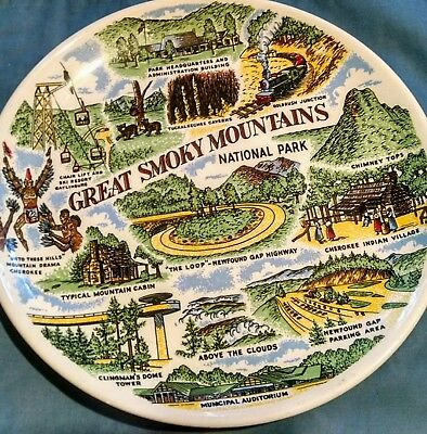 Free shipping! Great Smoky Mountains National Park Decorative Souvenir Plate