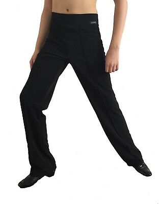 All Elasticated, Stretchy Mens Ballroom / Latin / Dance Practice Trousers. Black