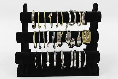 30 x VINTAGE BRACELETS & BANGLES inc. Statement Cuffs, Engraved, Stone Set
