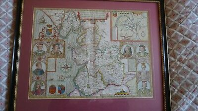 A map of Lancashire by John Speed c1676