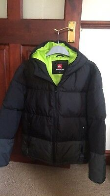 Quiksillver Boys Padded Coat Age 14 Yrs