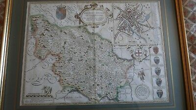 A map of the West Ridnge of Yorkeshire by John Speed c1676