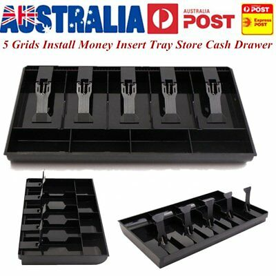 Easy Install Money Insert Tray Store Cash Drawer Security Storage Box Coin Reg U