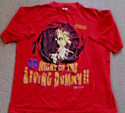 Vtg 90s Goosebumps Night Of The Living Dummy T-Shirt Red Youth XL Nickelodeon