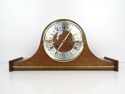 DUTCH Warmink Wuba Vintage Antique Mantel 8 day Clock (Hermle Junghans Era)